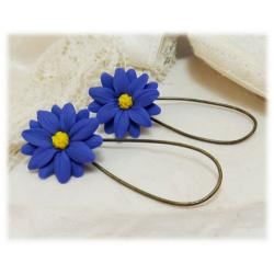 Blue Aster Drop Earrings