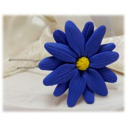 Blue Aster Hair Flower