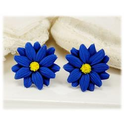 Blue Aster Stud Earrings