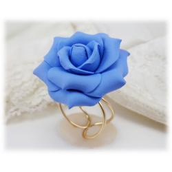 Light Blue Rose Ring