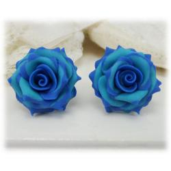 Capri Turquoise Rose Earrings