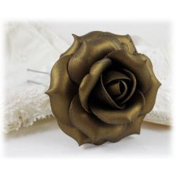Bronze Rose Hair Pin