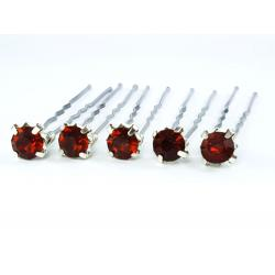 Brown Rhinestone Hair Pins