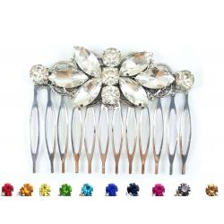 Butterfly Bridal Rhinestone Hair Comb
