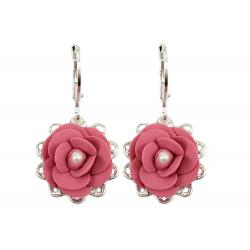 Camellia Filigree Dangle Earrings