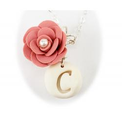Camellia Initial Necklace