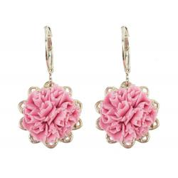 Carnation Filigree Dangle Earrings