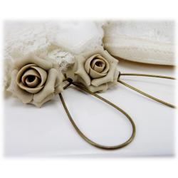 Champagne Rose Drop Earrings