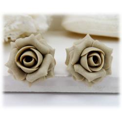 Champagne Rose Stud Earrings