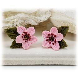 Cherry Blossom Leaf Earrings