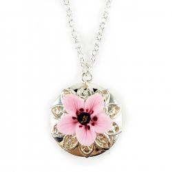 Pink Cherry Blossom Locket