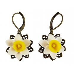 Daffodil Filigree Dangle Earrings