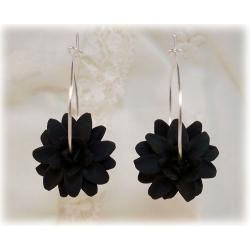 Dahlia Hoop Earrings