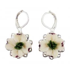 Dogwood Filigree Dangle Earrings