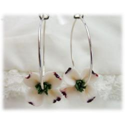 Dogwood Hoop Earrings
