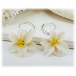 Easter Lily Drop Earrings