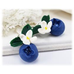 Flowering Blueberry Earrings