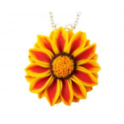 Red Stripe Gazania Necklace