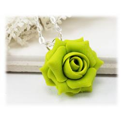 Green Rose Necklace