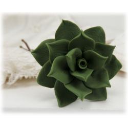 Green Succulent Hair Pin