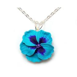 Hibiscus Flower Pendant Necklace