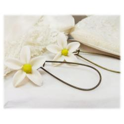 White Jasmine Drop Earrings
