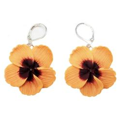 Large Hibiscus Earrings