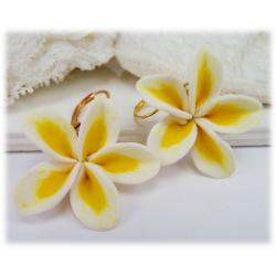 Large Plumeria Earrings