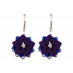Larkspur Filigree Dangle Earrings