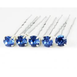 Light Sapphire Blue Rhinestone Hair Pins