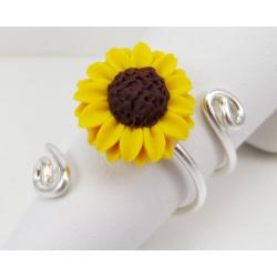Looped Sunflower Ring