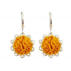 Marigold Filigree Dangle Earrings
