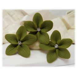 Olive Hair Flowers