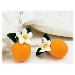 Orange Fruit Earrings