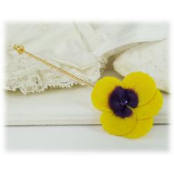 Pansy Stick Pin