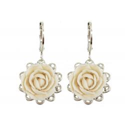 Peony Filigree Dangle Earrings