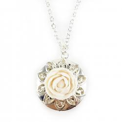 Peony Locket Necklace