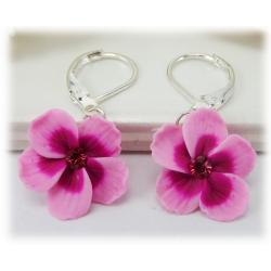 Pink Hibiscus Earrings