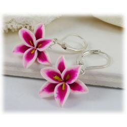 Pink Lily Drop Earrings