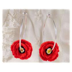 Poppy Hoop Earrings