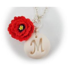 Poppy Letter Necklace