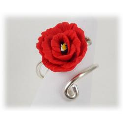 Poppy Wrapped Silver Ring
