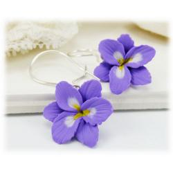 Purple Freesia Earrings