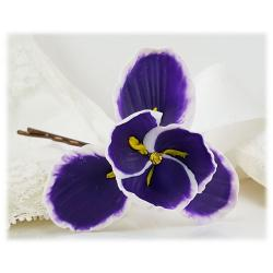Purple Iris Hair Pins