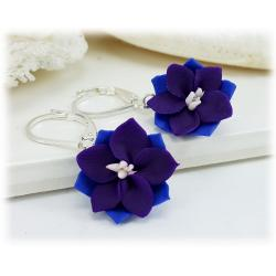 Purple Larkspur Drop Earrings