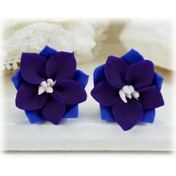 Purple Larkspur Stud Earrings