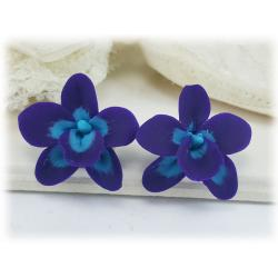 Purple Orchidz Stud Earrings