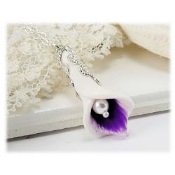 Purple Picasso Calla Lily Necklace