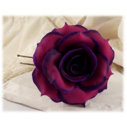 Purple tipped Rose Hair Pin