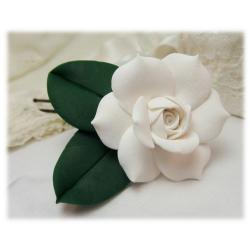 Realistic Gardenia Leaf Hair Flower